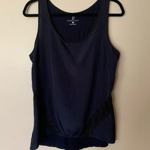 New Tork & Co. Navy and Black Sleeveless Blouse